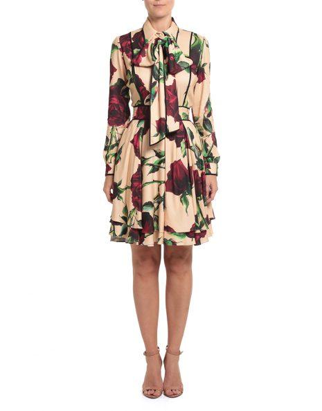 Vestido Celia Rosas Frente